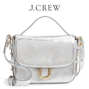 J.CREW Metallic Leather Crossbody Bag